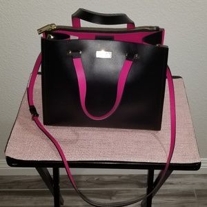 NEW Kate Spade Black/Pink Leather Tote